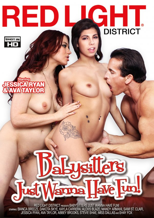 Red Light District Babysitters Just Wanna Have Fun! 2016  Abbey Brooks Sami St. Claire, Brunette, Stomach