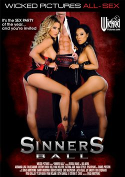 Wicked Sinners Ball Chanel Preston Hellie Mae Hellfire, Fishnet, Natural Breasts