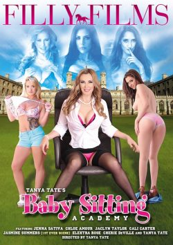 Filly Films Baby Sitting Academy 2015  Elektra Rose Jasmine Summers, Natural Breasts, Skinny